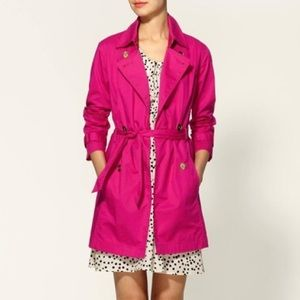 MK   pink belted trench coat